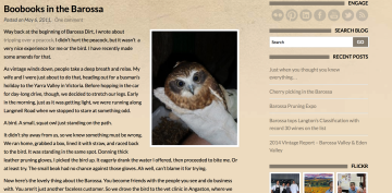 Barossa, birds, and words